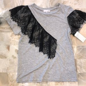 Tee with lace